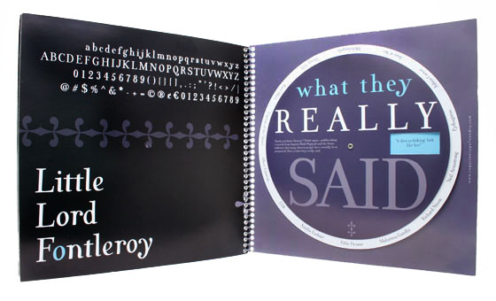Repartee Type Foundry Holiday Mailer, 'What They Really Said' spread