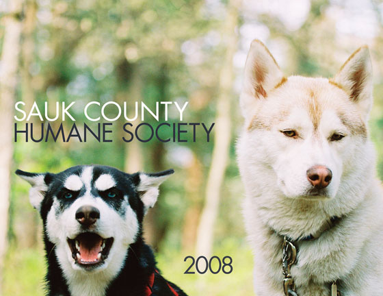 Sauk County Humane Society calendar, front cover