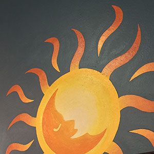 thumbnail image for Inner Fire Yoga wall graphics